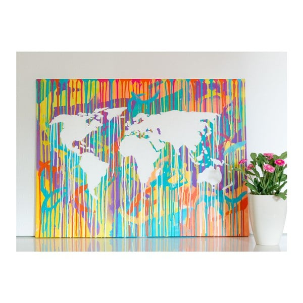 Obraz Colorful World Map II, 60x90 cm