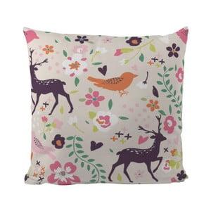 Poduszka Deer And Bird, 50x50 cm
