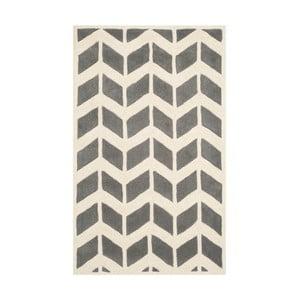 Dywan wełniany Brenna Grey, 121x182 cm