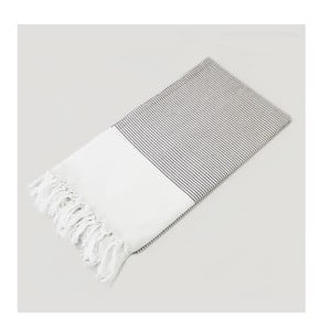 Ręcznik hammam Bath Style Brown & White, 100x180 cm