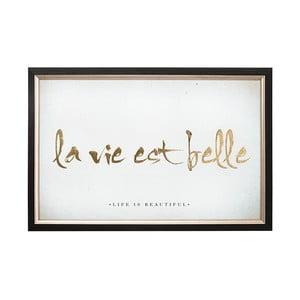 Obraz w ramie Graham & Brown La Vie Est Belle, 60x40 cm