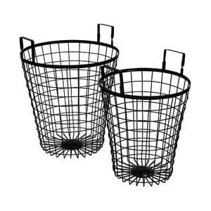 Metalowy koszyk Netz Black, 60 cm