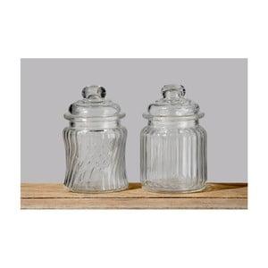 Zestaw 2 pojemników szklanych Boltze Clear