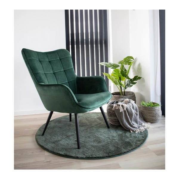 Zielony fotel z aksamitnym obiciem House Nordic Dublin