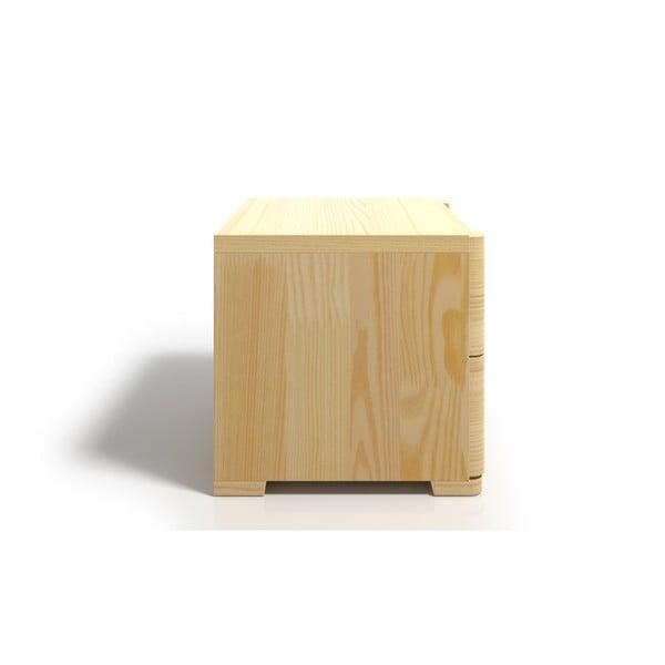Szafka nocna z drewna sosnowego z 2 szufladami SKANDICA Sparta