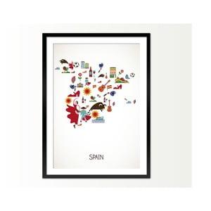 Oprawiony obraz Spain, 50x70 cm