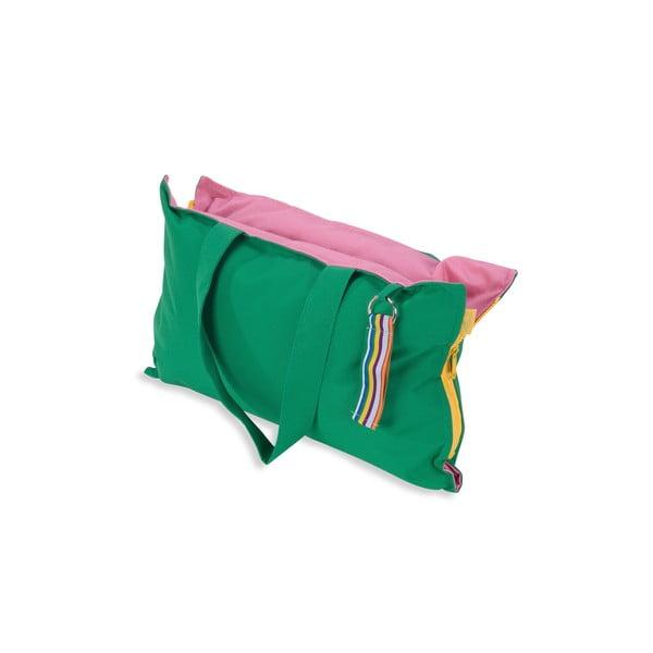 Przenośne siedzisko + torba Hhooboz 50x60 cm, zielone