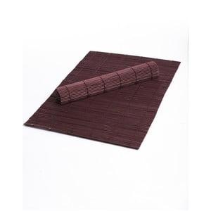 Zestaw 2 fioletowych mat stołowych z bambusu Bambum
