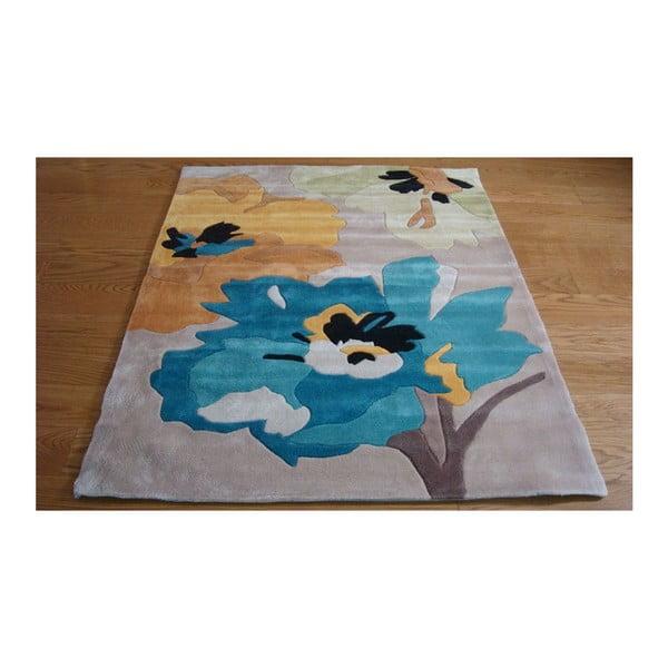 Dywan Bloom Teal Ochre, 160x220 cm