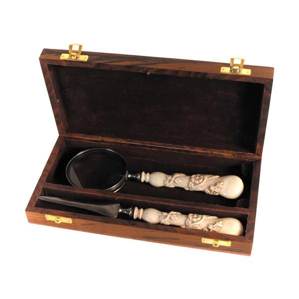 Lupa i nóż do kopert Antic Line Ivory