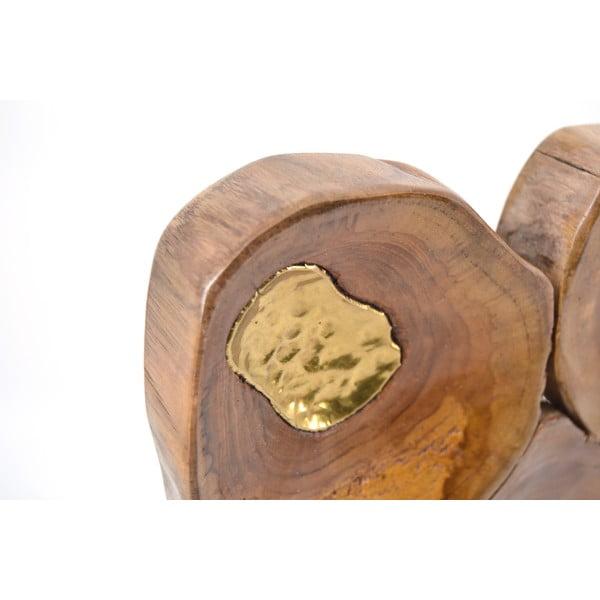 Dekoracja ścienna  z drewna tekowego Erosi