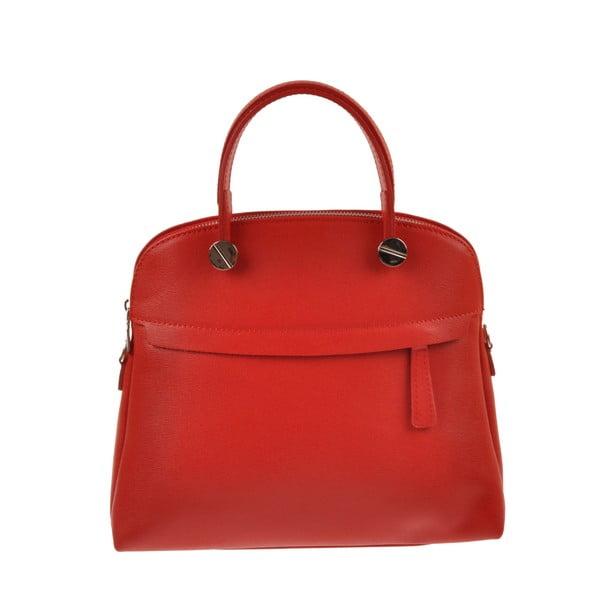 Skórzana torebka Emilio Masi Yutz, czerwona