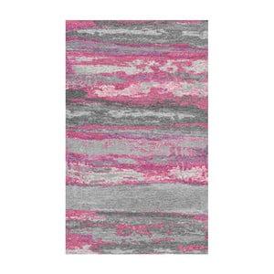 Szaro-różowy dywan Kate Louise Vintage, 80x150 cm