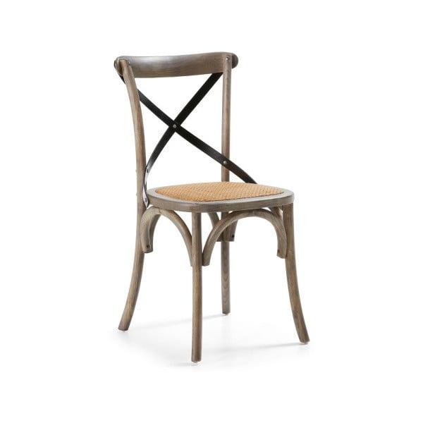 Krzesło Silena, szare/naturalne