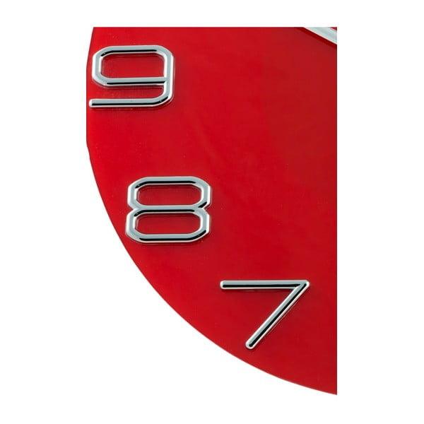 Zegar Numbers Red, 30 cm