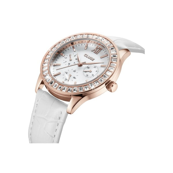 Zegarek damski Arabesque Rose Gold White, 40 mm
