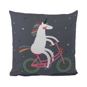 Poduszka Butter Kings Unicorn With A Bike, 50 x 50 cm