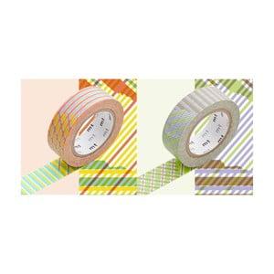Zestaw 2 taśm dekoracyjnych washi Écossais Stripe Checked