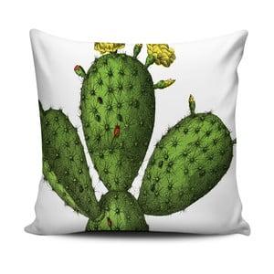 Zielono-biała poduszka Home de Bleu Cactus, 43x43cm