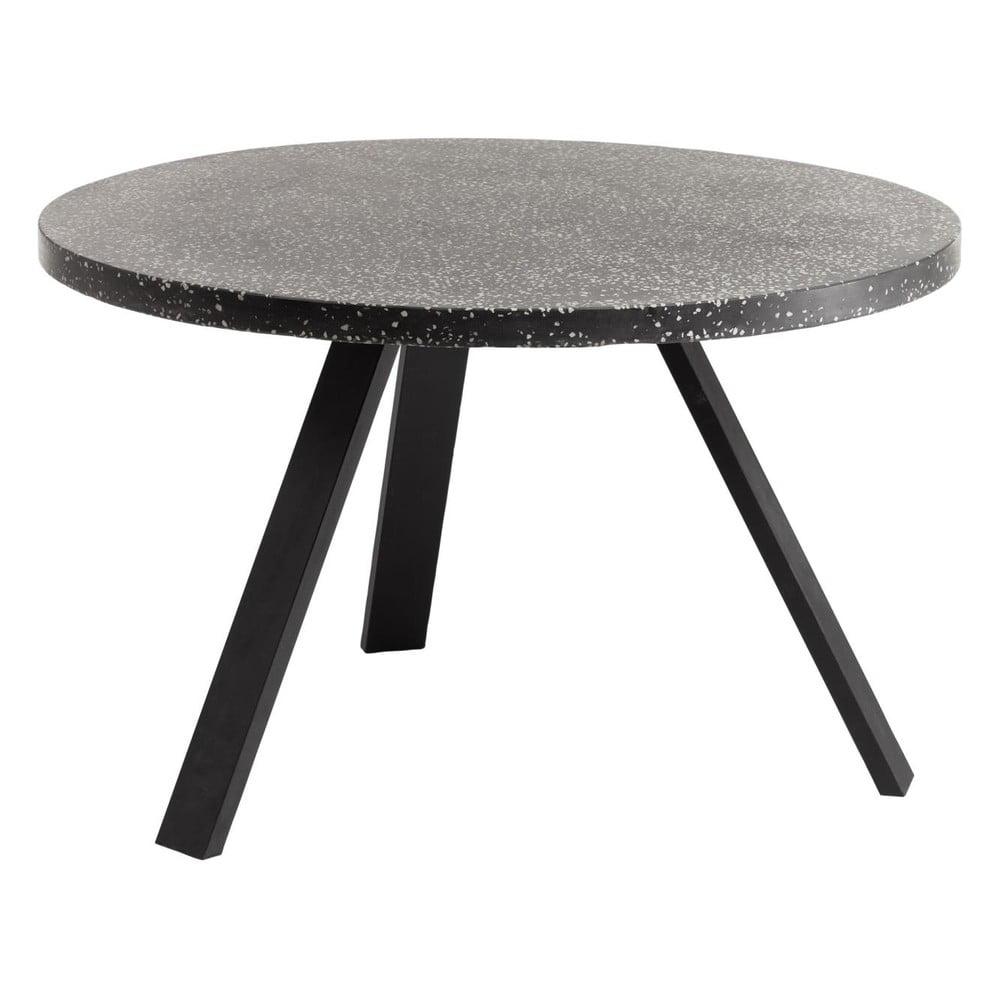 Czarny stół La Forma Shanelle, ⌀ 120 cm