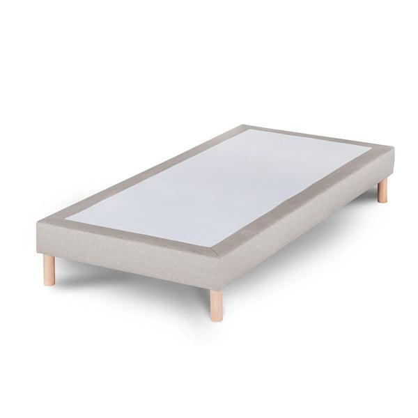 Jasnoszare łóżko Stella Cadente Sommier, 90x200 cm