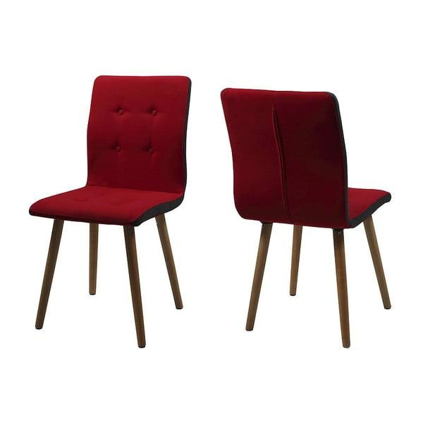 Krzesło do jadalni Frida, czerwone