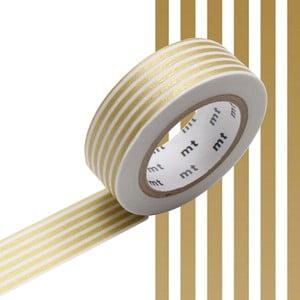 Taśma dekoracyjna washi Border Gold
