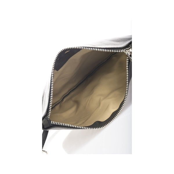 Skórzana torebka Krole Kody, czarna