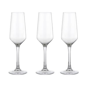 Zestaw 3 kieliszków do szampana Vinium, 21 cl