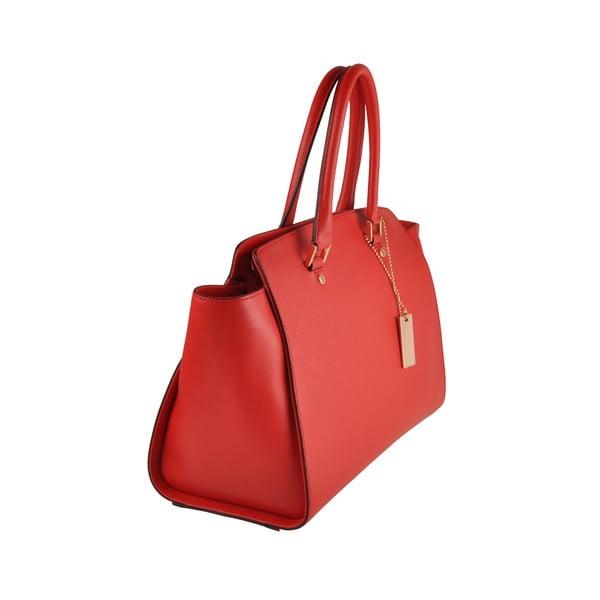 Skórzana torebka Emilio Masi Harbour, czerwona