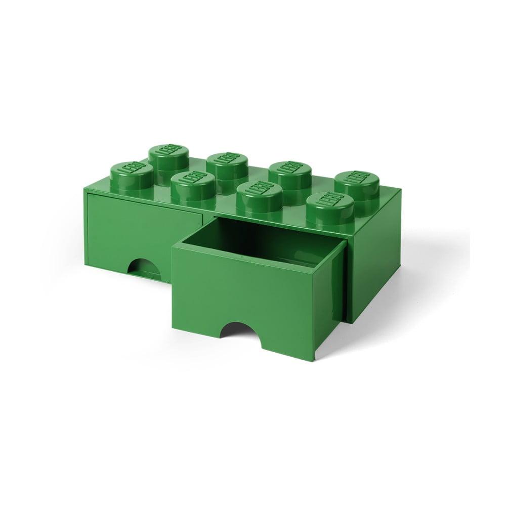 Zielony pojemnik z 2 szufladami LEGO®