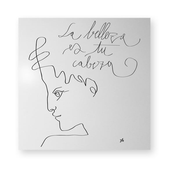Magnetyczna tablica dESIGNoBJECT.it La Belleza,50x50cm