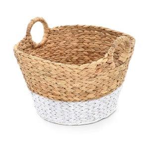 Koszyk wiklinowy Beige/White, 40x30 cm
