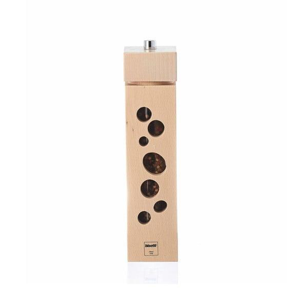 Młynek do pieprzu z drewna bukowego Bisetti Dot, 24,5 cm