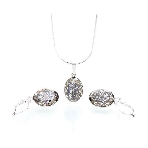 Komplet naszyjnika i kolczyków z kryształami Swarovskiego Yasmine Oval