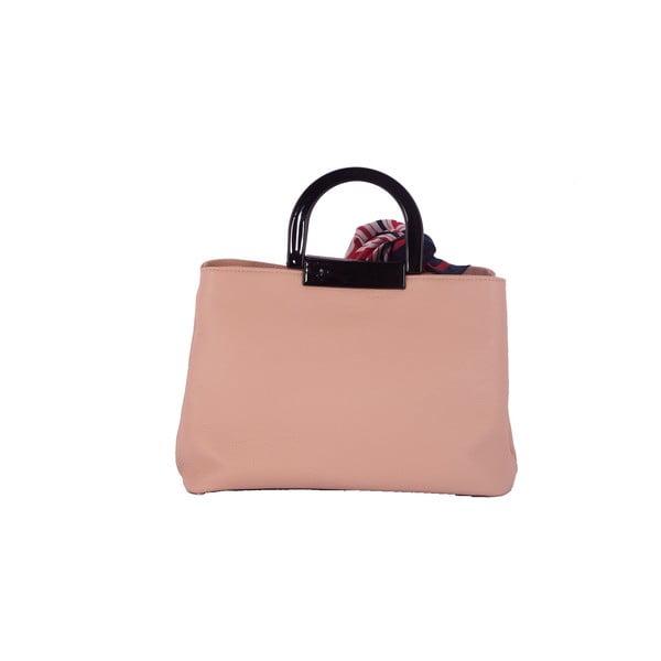 Różowa torebka skórzana Andrea Cardone Angelo