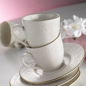 Komplet 6 porcelanowych filiżanek ze spodkiem Kutahyi Simple White, 80 ml