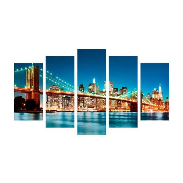 5-częściowy obraz Bridge Tales, 60x100 cm