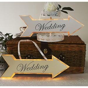 Dekoracja ślubna z lampką LED Wedding Arrow