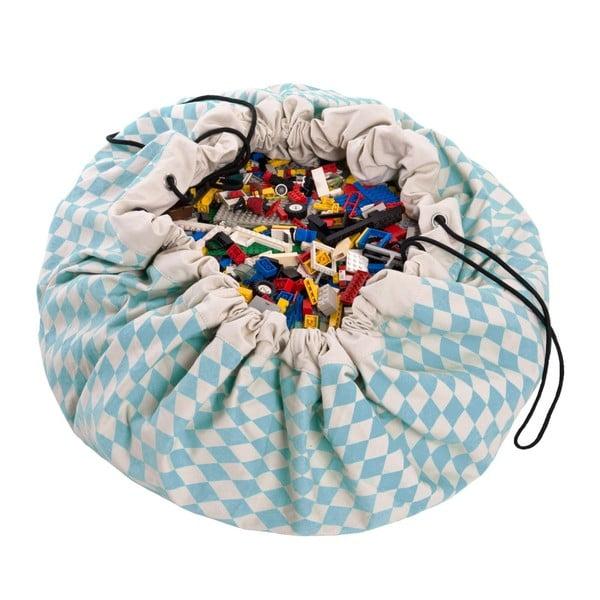 Mata do zabawy i worek na zabawki w jednym Play & Go Diamond Blue