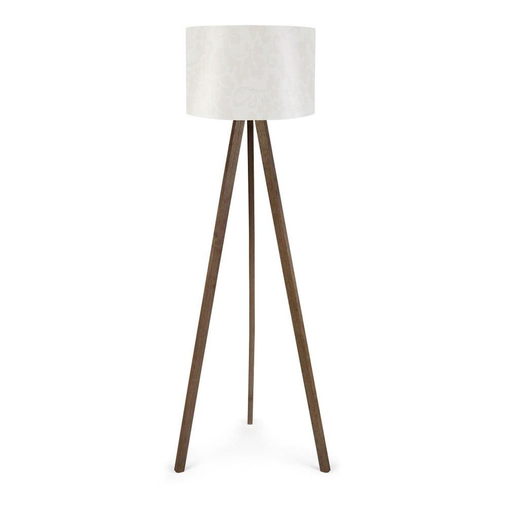 Biała lampa stojąca Nus