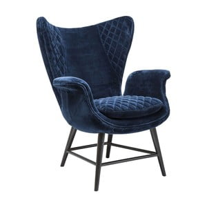Niebieski fotel Kare Design Tudor