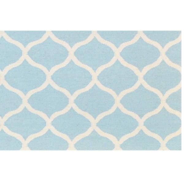 Jasnoniebieski dywan wełniany Bakero Alize, 140x200 cm