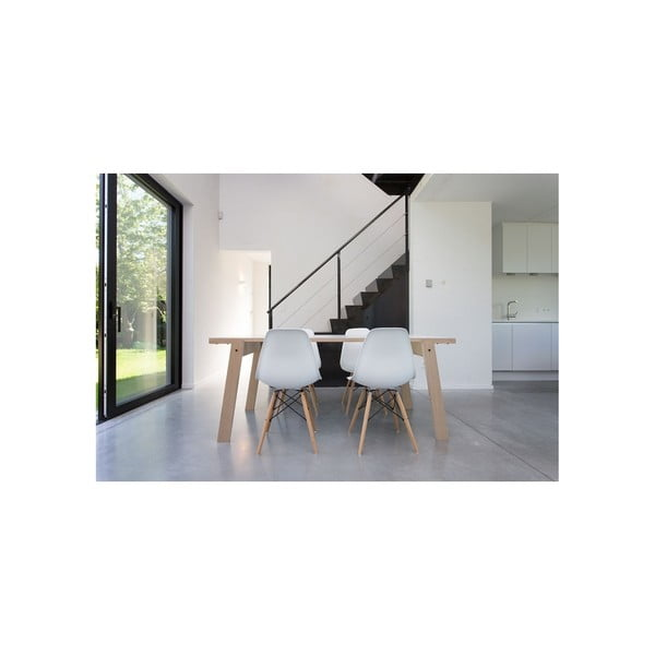 Stół/biurko w kolorze dębu rform Flat, blat 180x80 cm