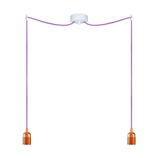 Dwa wiszące kable Uno, miedziany/fioletowy