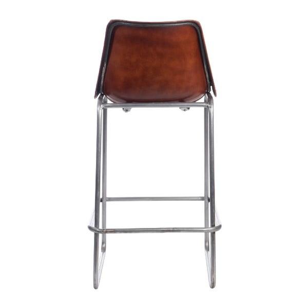Krzesło barowe Leather Camel, 45x42x101 cm