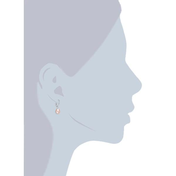 Jasnopomarańczowe   perłowe kolczyki z biglem angielskim Chakra Pearls
