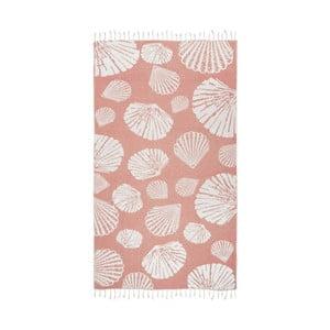 Pomarańczowy ręcznik hammam Kate Louise Fiona, 165x100cm