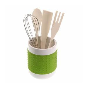 Stojak z   akcesoriami kuchennymi Versa Con,   zielony