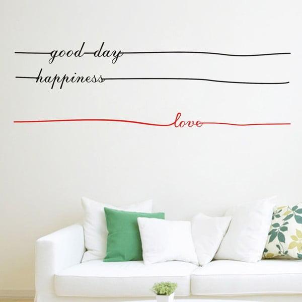 Naklejka dekoracyjna Letters Lines, 35x110 cm
